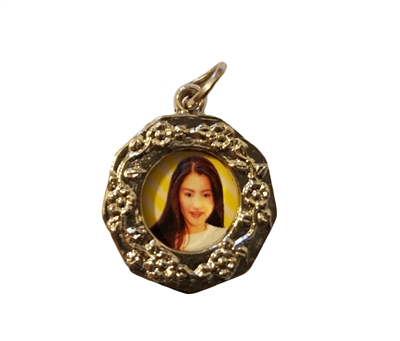 Round Photo Picture Frame Charm
