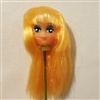 "Small 1"" Long Blonde Hair Female Vinyl Doll Head Wire Pick"
