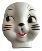 Large Plastic Easter Bunny Rabbit Doll Face Mask