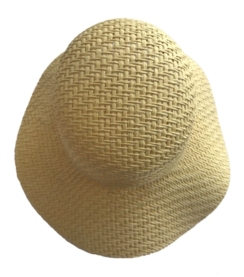 "5-1/2"" Natural Straw Wicker Bonnet for Dolls"