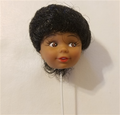 Black Female Vinyl Doll Head Wire Pick