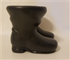 "Pair of 3-1/2"" Black Plastic Santa Claus Doll Boots"