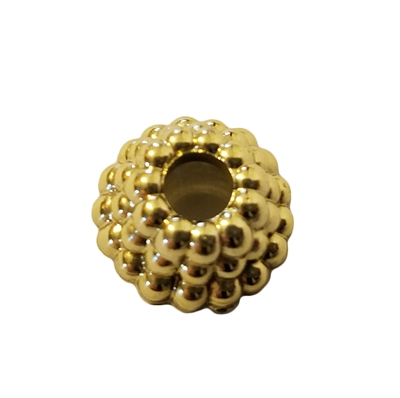 16mm Gold Ornament Crown Rings Bead Caps, 8 ct