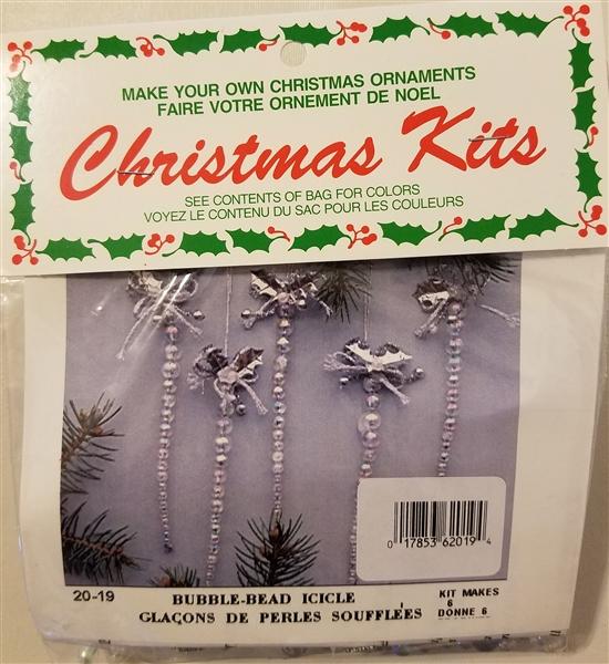Bubble Bead Icicle Beaded Christmas Ornament Kit
