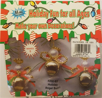 Holiday Angel Ball Beaded Christmas Bell Ornament Kit