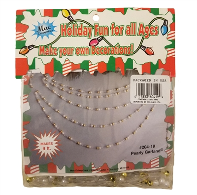 Beaded Pearly Garland Christmas Craft Kit