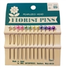 "2"" Multi-Color Round Pearlized Head Florist Pins, 12 per card"