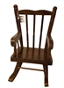 "Darice 8"" Wooden Rocking Chair for Dolls, Toys, or Bears"