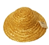 "8"" Round Natural Straw Sun Hat for Dolls"