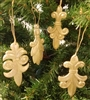 Gold Fleur de Lis Christmas Ornaments, Set of 4