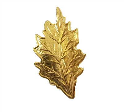 Gold Tone Metal Small Leaf Jewelry Findings