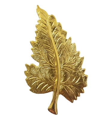 Gold Tone Metal Large Maple Leaf Jewelry Findings