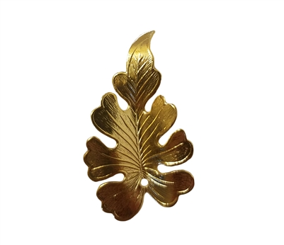 Gold Tone Metal Leaf Pendant Jewelry Findings