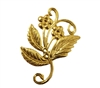 Floral Scroll Charm Gold Tone Metal Jewelry Findings
