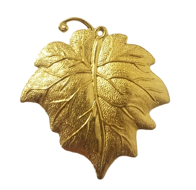 Gold Tone Metal Maple Leaf Pendant Jewelry Findings