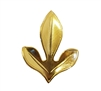 Gold Tone Metal Sassafras Leaf Jewelry Findings