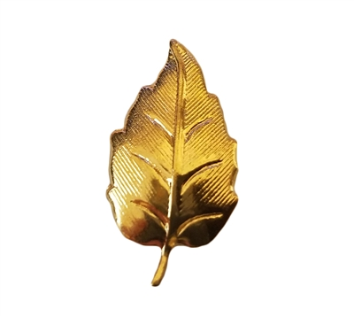 Gold Tone Metal Tiny Leaf Jewelry Findings
