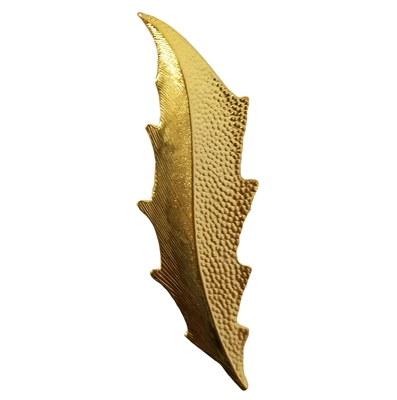 Gold Tone Metal Large Leaf Jewelry Findings