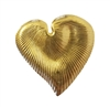 Gold Tone Metal Heart-Shaped Leaf Water Lily Pad Jewelry Findings