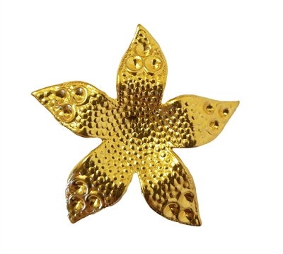 Gold Tone Metal Large Flower Jewelry Findings