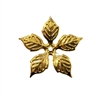 Gold Tone Metal Flower Stamping Charm
