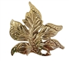 Silver Tone Metal Large Maple Leaf Jewelry Findings