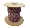 4mm Purple Amethyst Single Rhinestone Silver Plated Chain Ribbon Spool