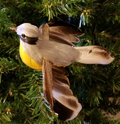 "5"" Flying Yellow Belly Artificial Bird"