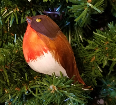 "3"" Red Breasted Artificial Bird"