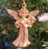 "1-1/2"" Miniature Gold Plastic Angel Christmas Ornament"