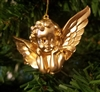 "2"" Miniature Gold Cherub Angel Christmas Ornament"