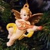 "2-1/2"" Antiqued Plaster Cherub Angel Christmas Ornament"