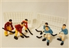 Miniature Plastic Hockey Player Teams with Nets