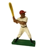 Miniature Black Painted Plastic Baseball Player