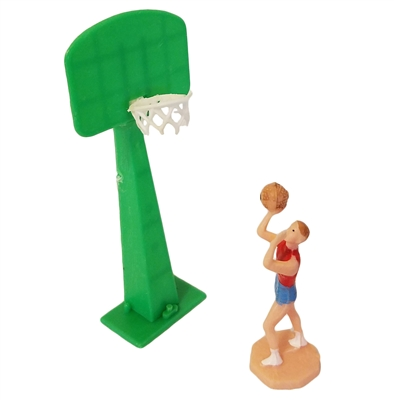 Miniature Plastic Basketball Player Set