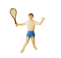 Set of 2 Miniature Plastic Tennis Players