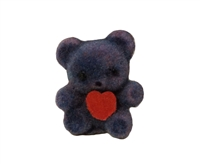 Darice Flocked Teddy Bear with Red Heart (Pack of 2)
