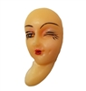 Winking Eye Lady Plastic Face Cameo Head