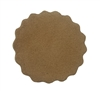 Genuine Suede Leather Scalloped Rounds