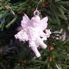 "1-1/4"" Miniature White Angel with Vine Christmas Ornament"