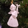 "1-1/2"" Miniature White Angel with Guitar Christmas Ornament"