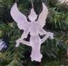 "3-1/2"" Frosted Plastic Angel Christmas Ornament"