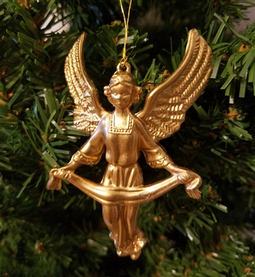 "3-1/2"" Gold Angel Christmas Ornament"