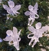 "Set of 4 Frosted Plastic 3-1/2"" Musical Angel Christmas Ornaments"