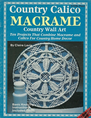 Country Calico Macrame: Country Wall Art