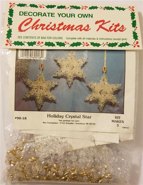 Holiday Crystal Star Beaded Christmas Ornament Kit