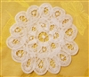 "6"" Battenburg Lace White Round Crochet Doilies, 12 ct"
