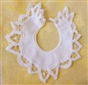 "6"" Battenburg Lace White Crochet Collar for Sewing Baby Doll Clothes, 12 ct"