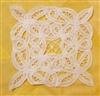 "6"" Battenburg Lace White Square Crochet Doilies, 12 ct"