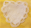 "4"" Battenburg Lace White Cotton Heart Shape Crochet Doilies, 12 ct"
